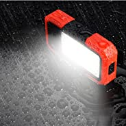 Magnetic Work Light, LED Magnetic Base and Clip Charging Power Supply 500LM COB Flashlight, Multi-Purpose high