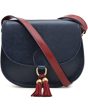 f63b3d873d3 ECOSUSI Saddle Shoulder Bags Purse Vintage Crossbody Bag for Women with  Tassels