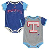 Texas Rangers Vintage Baby / Infant Go Team 2 Piece Creeper Set