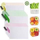 Reusable Mesh Produce Bags-Washable Eco-Friendly Premium...