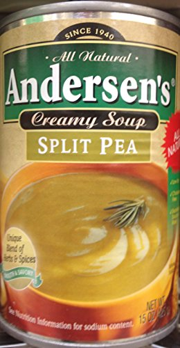 Andersen's Split Pea Soup 15oz. Can (Pack of 4) (Best Vegetarian Split Pea Soup)