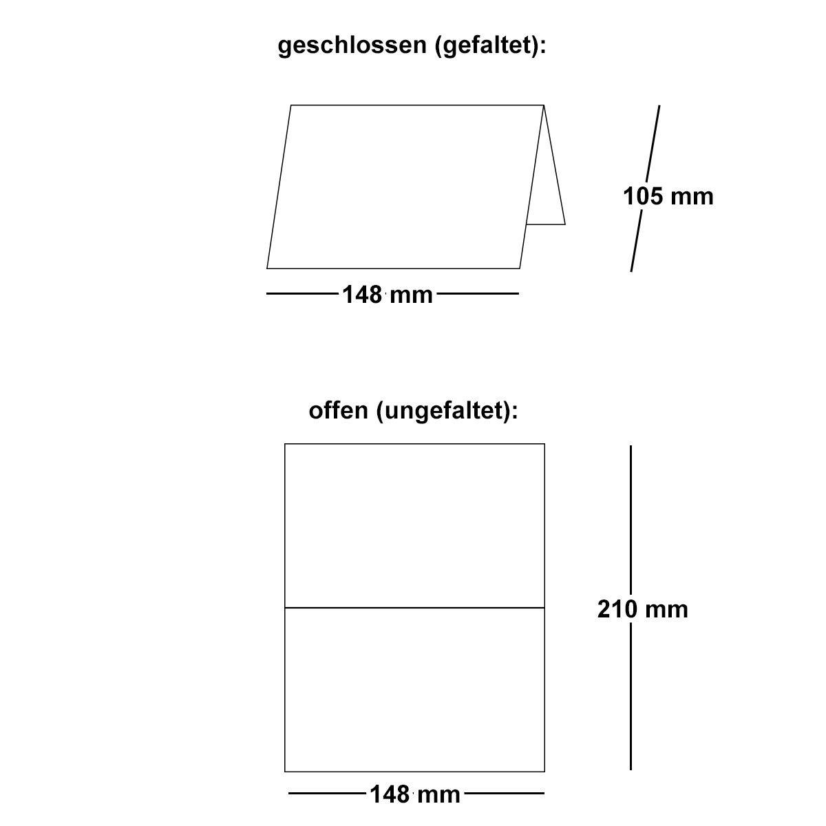 birch 297 x 210mm 25 St/ück Artoz Green-Line Doppelkarten - DIN A5 hoch