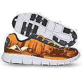 Nivia Men's City Marathon-1 Mesh PU Orange and Black Running Shoes