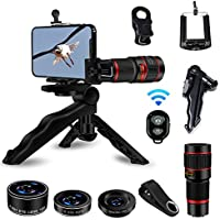 Cell Phone Camera Lens, AIKEGlobal 5 in 1 20X Zoom...