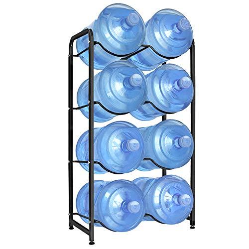 UMORNING 5 Gallon Water Bottle Holder, 4-Tier Water Bottle Rack for 8 Bottles Heavy Duty Detachable Kitchen Organization…