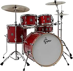 gretsch drums energy vb 5 piece drum set with zildjian cymbals red musical instruments. Black Bedroom Furniture Sets. Home Design Ideas