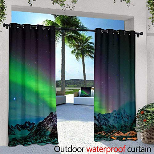 Lightly Outdoor Privacy Curtain for Pergola,Massage Stones Massage Pebbles Various Sizes,W84 x L108 Outdoor Patio Curtains Waterproof with Grommets ()