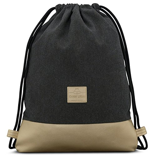 Amazon.com: Johnny Urban Drawstring Bag Anthracite/Gold Gymsack Gym Sack Men & Women: Sports & Outdoors