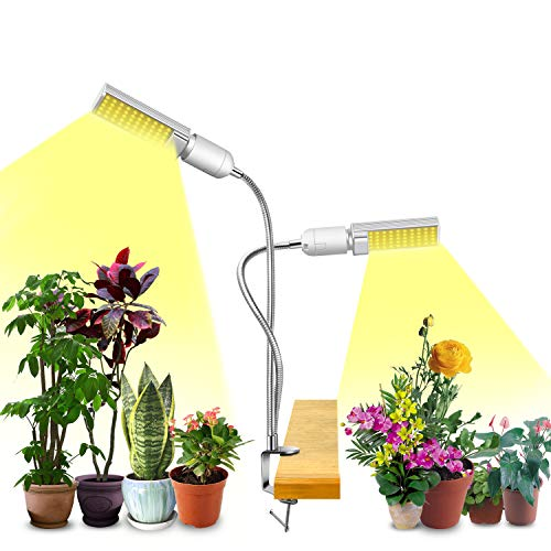 6 Brightness Levels Auto ON//Off 108W Full Spectrum Grow Light 3-Head Grow Lamp GROSSYLAND LED Plant Light for Indoor Plants 3//6//12H Timing Suitable for Greenhouse Hydroponics Succulent