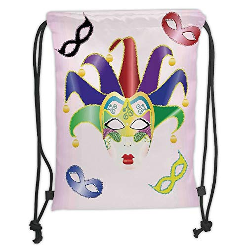 New Fashion Gym Drawstring Backpacks Bags,Masquerade,Abstract Style Illustration