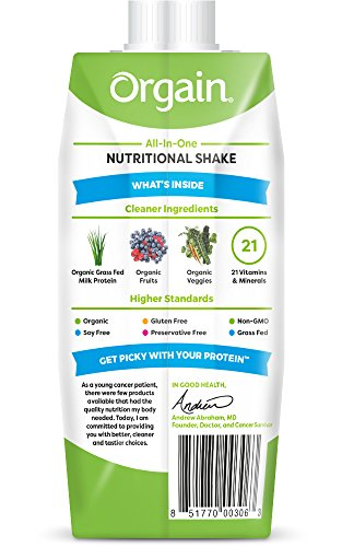 Orgain Organic Nutrition Shake, Strawberries & Cream, Non-GMO, Kosher, Gluten Free, 11 Ounce, 12 Count, Packaging May Vary by Orgain (Image #1)