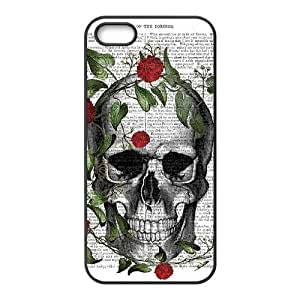 Customized case Of Artistic Skull Hard Case for iPhone 5,5S wangjiang maoyi