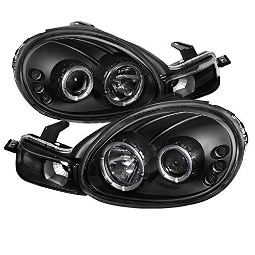 Halo Black Neon Projector (Spyder Auto Dodge Neon Black Halogen LED Projector Headlight)
