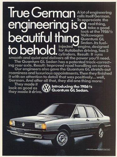 1986 1/2 VW Volkswagen Quantum GL Sedan True German
