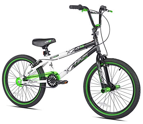 A to Keep Your Child Active with 20″ Ambush Boys BMX Bike Cycling Outdoor Recreation Sports Fitness Exercise Cardio Training, Youth, White, Green, Black Color