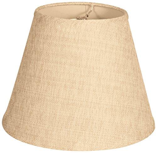 mpire Hardback Lamp Shade, Linen Cream, 9 x 18 x 14 (Cream Hardback Shade)