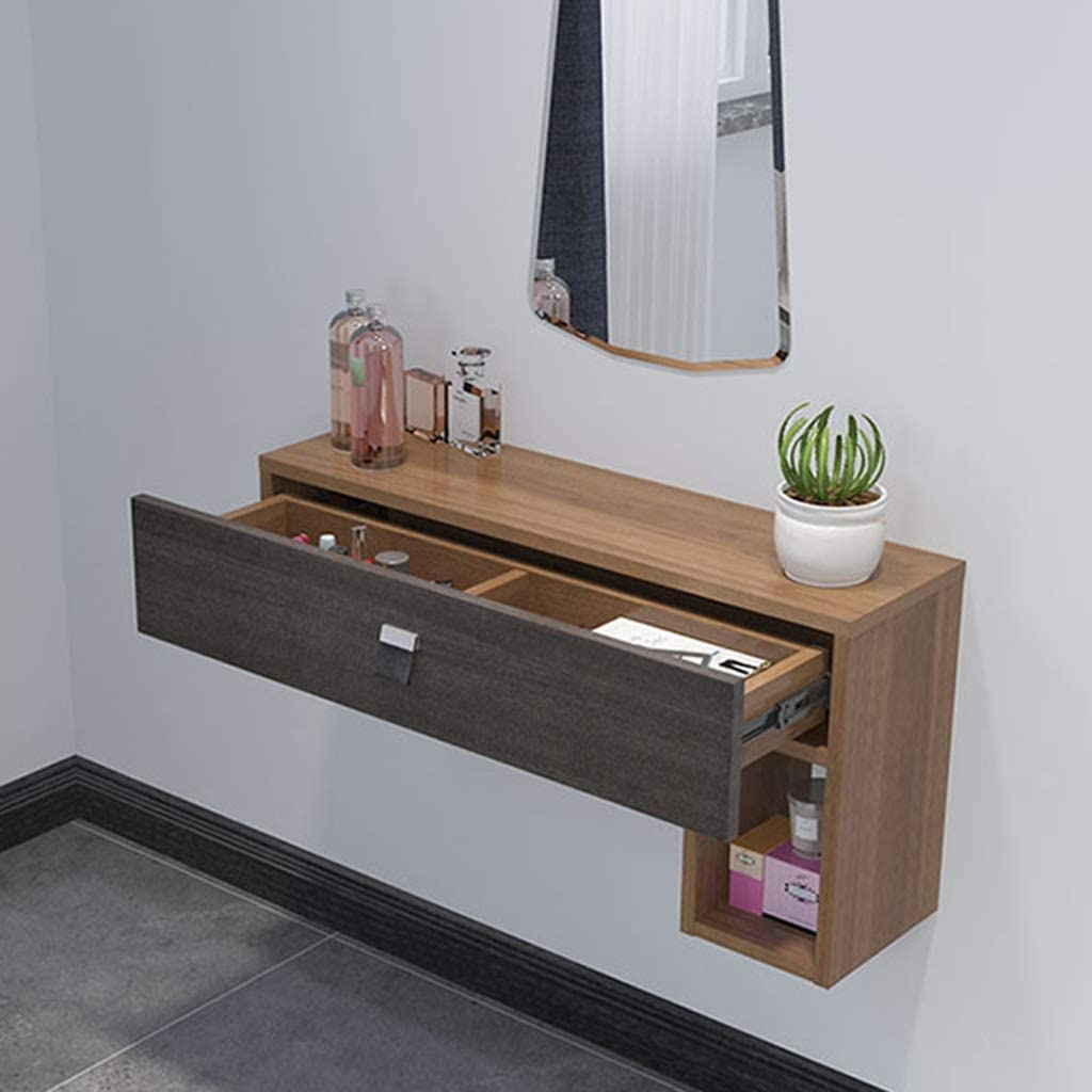 Floating Shelf Wall Mounted Dressing Table Floating Shelf Bedroom Makeup Cabinet With Drawers And Storage Unit Bedside Vanity Cosmetic Storage Cabinet Wall Table Bathroom Storage Cabinet Corner Workst Amazon Co Uk Kitchen Home