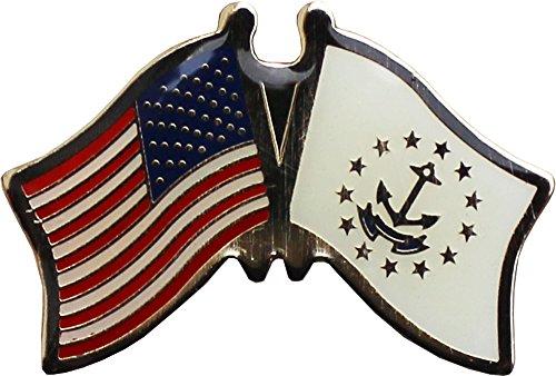 (Flagline Rhode Island - State Friendship Lapel Pin)