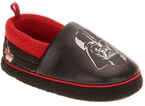 Disney Star Wars Darth Vader A-line Slippers (2-3 M US Little Kid, Darth Vader Black (Star Wars Darth Vader Slippers)