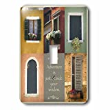 3dRose Susan Kjellsen Photography - Windows - Antique windows - Light Switch Covers - single toggle switch (lsp_280229_1)