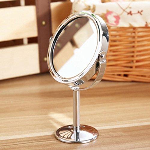 Vanidad Espejos, mesa redonda tipo de doble cara giratoria espejo Lupa Belleza Cosméticos Maquillaje Espejo por hmane,...