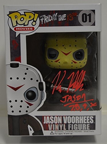 Funko POP Movies: Friday the 13th - Jason Voorhees Action Figure signed by KANE HODDER -