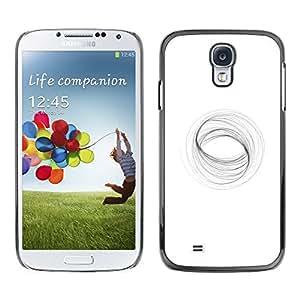 Cubierta protectora del caso de Shell Plástico || Samsung Galaxy S4 I9500 || Abstract Vortex Mathematics White @XPTECH