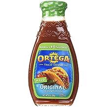 Ortega, Taco Sauce, 8oz Glass Jar (Pack of 3) (Choose Heat) (Mild)