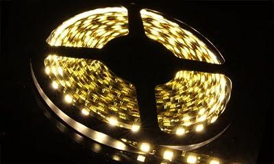 5m Meter 16 ft Feet Roll 5050 SMD LED 300 LEDs Waterproof Flexible Light Strip -Warm White
