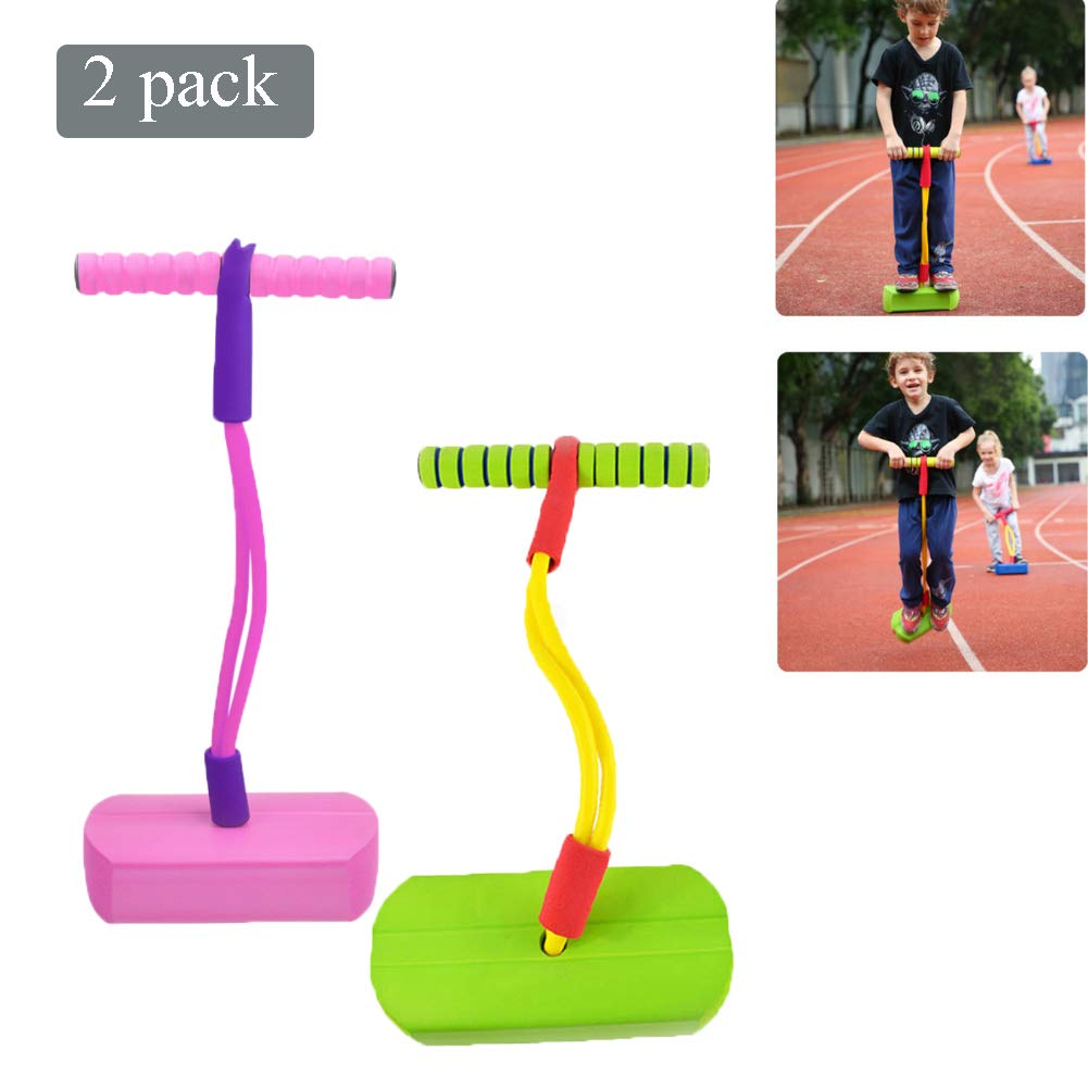 Pogo Stick Children's Jumping Stick Toy Bouncing Bubble Jumper Durable for Boys and Girls,A