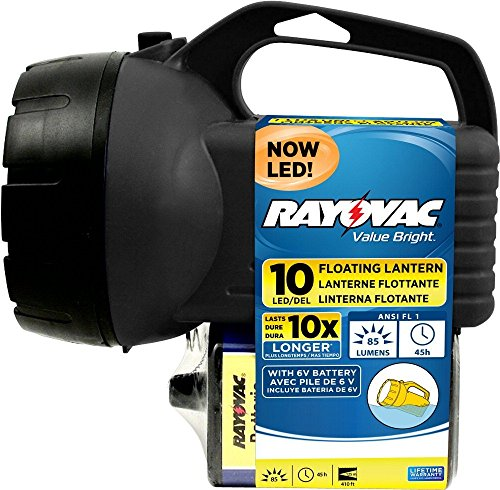 Floating Lantern Rubber - RAYOVAC Value Bright 85-Lumen 6V 10-LED Floating Lantern Battery with Battery, BEPLN6V-BTA
