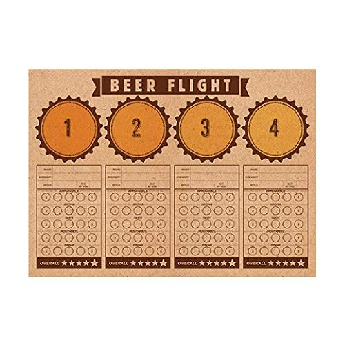 Bargain World Beer Flight Tasting Placemats (with Sticky Notes)