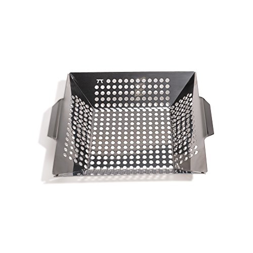 Outset QS70 Square Grill Wok, Stainless Steel - Stainless Steel Wok Topper