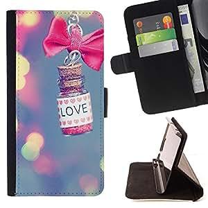 - love lights blur pink meaning valentine - - Prima caja de la PU billetera de cuero con ranuras para tarjetas, efectivo desmontable correa para l Funny HouseFOR Samsung Galaxy S4 Mini i9190