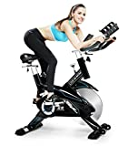 Indoor Cycling Bike Trainer Belt Drive and Sturdy NOW