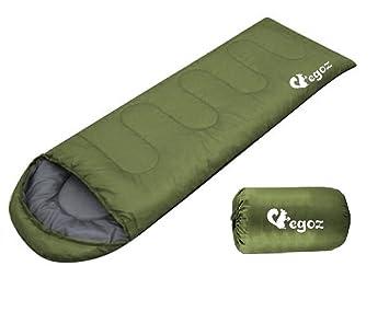 Peanut Por Egoz Fácil de cargar cálido adulto Saco de dormir al aire libre Deportes Cabañas Senderismo Con bolsa de transporte (Ejercito Verde): Amazon.es: ...