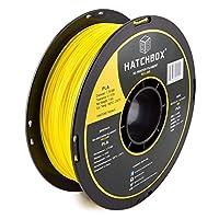 HATCHBOX PLA 3D Printer Filament, Dimensional Accuracy +/- 0.03 mm, 1 kg Spool, 1.75 mm, Yellow from HATCHBOX