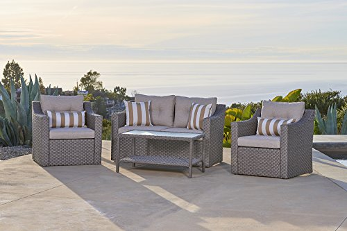 Solvista Outdoor Fully Woven 4-Piece Conversation