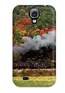 Special Design Back Steam Train With Red And Black Cars Phone Case Cover For Galaxy S4