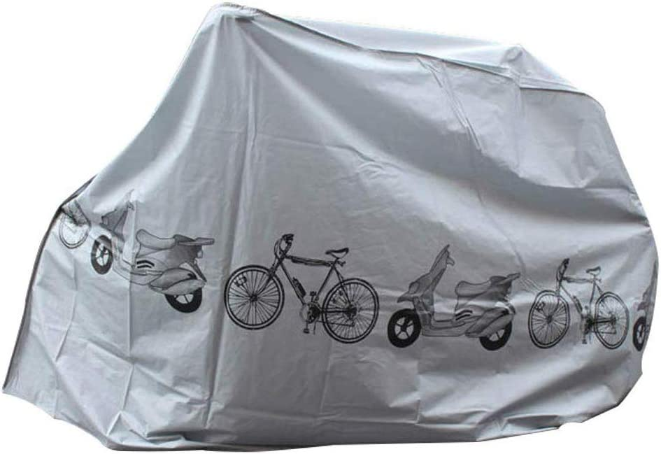 Sliver Bicycle Cover IHOMYIPET Bike Cover Bike Rain Snow Cover Waterproof Anti Dust Rain UV Protection Heavy Duty Dust Cover for Mountain Bike Road Bike Storage Bag
