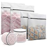 6Pcs Durable Honeycomb Mesh Laundry Bags for