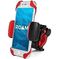 "Roam universal Premium Bike teléfono celular soporte para motocicleta–Manillar para bicicleta, ajustable, encaja iPhone 6s | 6S Plus, iPhone 7| 7Plus, Galaxy S7, S6, S5, para teléfonos de hasta 3.5"" Amplio"