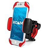 "Roam Universal Premium Bike Phone Mount for Motorcycle - Bike Handlebars, Adjustable, Fits iPhone 6s | 6s Plus, iPhone 7 | 7 Plus, Galaxy S7, S6, S5, Holds Phones Up To 3.5"" Wide (Red)"