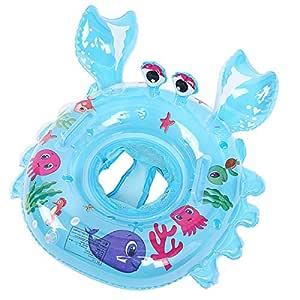 Ihomepark Anillo de Natación para Bebé de Piscina, Azul Cangrejo ...
