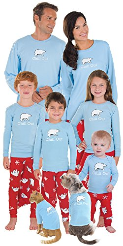 PajamaGram Cotton Chill Out Matching Family Pajama Set, Men's X-Large, Multicoloured