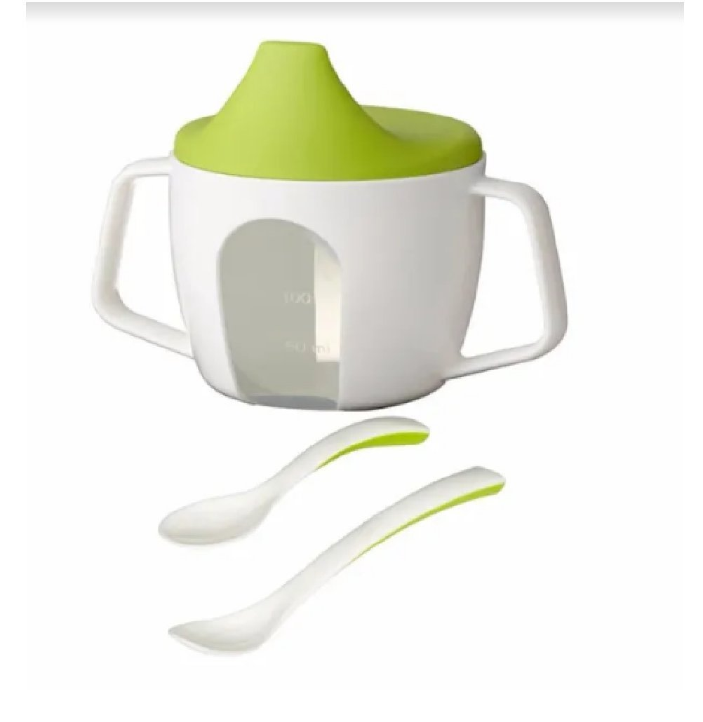 Ikea Training Cup and Baby Spoons Set