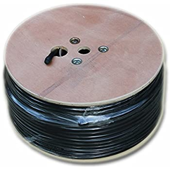 Amazon.com: RG11 Cableado Cable 500 ft Roll de Black tri ...