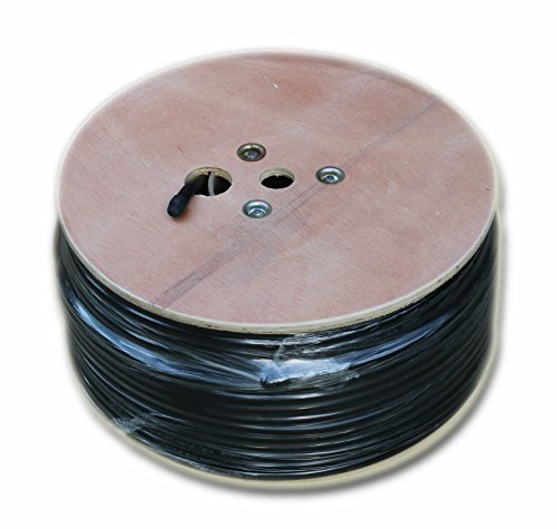 RG11 CABLE 500 FT roll of Black Tri-Shield Underground Coaxial Drop DIRECT BURIAL Flooded COAX Digital Cabling with GEL ( Indoor / Outdoor ) Bulk Wire / by CableProof