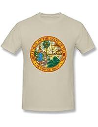 Mens T-Shirts USA Florida State Flag Natural