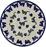 Polish Pottery Saucer 5-inch Kitty Paws